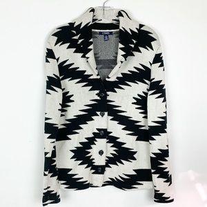 Chaps Aztec Print Cardigan/Sweater